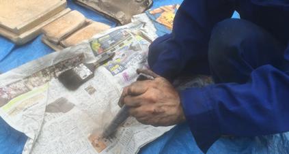 金属パーツの清掃2
